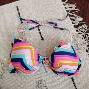 Victoria's Secret Colorful Chevron Bikini Top 34C